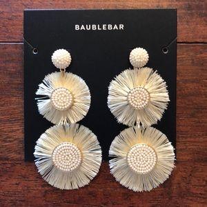 Baublebar Marietta Fringe Drop Earrings-Ivory